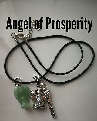 Code 227 PROSPERITY ANGEL Necklace charged n infused Aventurine abundance money