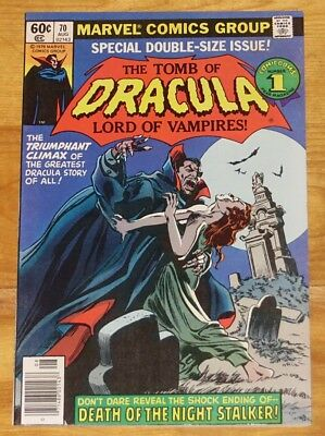 1979 TOMB OF DRACULA No. 70 Final Issue VF 8.0 with No Reserve