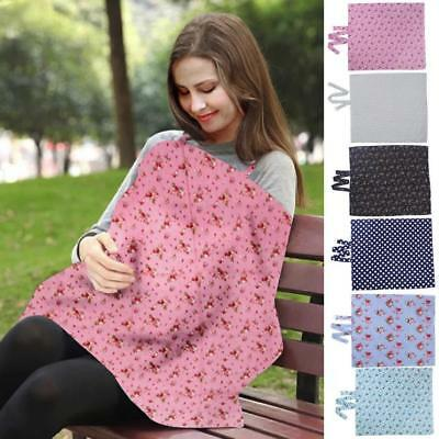 Baby Breastfeeding Cover Mum Cotton Nursing Floral Udder Apron Shawl Clothes