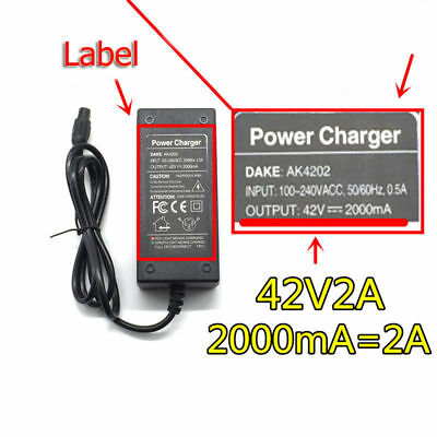 42V 2A charger battery for 2 Wheel Car Elec Self Balance Scooter EU Plug Cable