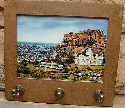 Very Rare Beautiful Multipurpose Wooden Cork Sheet Photo Frame With Hooks India