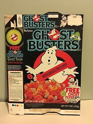 Vintage Ghostbusters Ralston Cereal Box with Ghost Flyer offer on box 1985