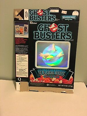 Vintage Ghostbusters Ralston Cereal Box Hologram Series Limited Edition