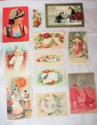 Vintage Early VIctorian 1800's Trade Card Lot 1800's Greeting Holiday Calling