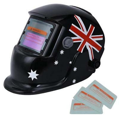 Welding Helmet Automatic Welding Mask MIG TIG ARC Mask w/ Lens - Flag Type