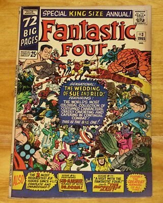 1965 FANTASTIC FOUR ANNUAL No. 3 Fine 6.0 Sue & Reed Wedding No Reserve