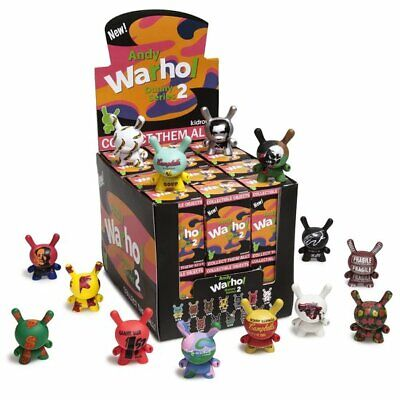 NEW! Kidrobot Andy Warhol 3-Inch Dunny Mini Series 2.0. Display Case Of 24 Blind