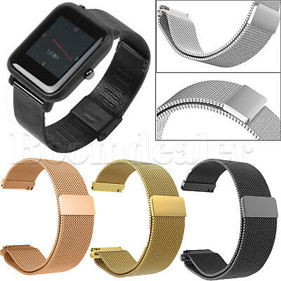 Milanese Magnetic Loop Stainless Steel Wristband Straps for Huami Amazfit 20 mm