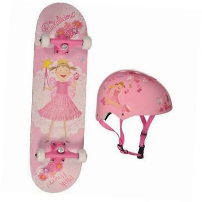 skateboard and helmet combo (pink, small)