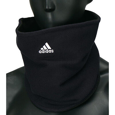 Adidas Game Day Football Fleece Neck Warmer Scarf Headwear Gaitor OSFM Black