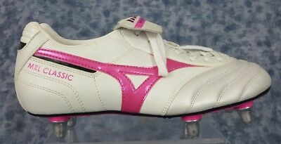Mizuno  Womens Size 7.5 White And Pink Cleats New Without Box
