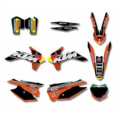 KTM SX XC SX-F 125-300 350-500F 2013 2014 2015 Graphics DECALS Sticker Kit