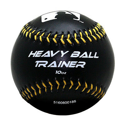 Franklin MLB Heavy Ball Trainer 10 oz Weighted Baseball Black 1052