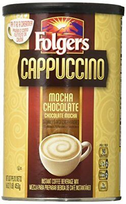 Folgers Cappuccino Mocha Chocolate Coffee Beverage Mix 16-Ounces Canisters Pa...