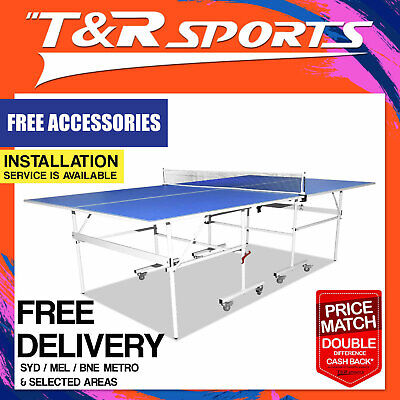 Pro 16MM Foldable 4-Piece Table Tennis Ping Pong Table Free Rackets Balls Net