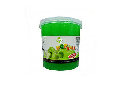 Popping Boba, Bubbles, Platzperlen für Bubble Tea, Typ Apfel 3,2 kg Eimer
