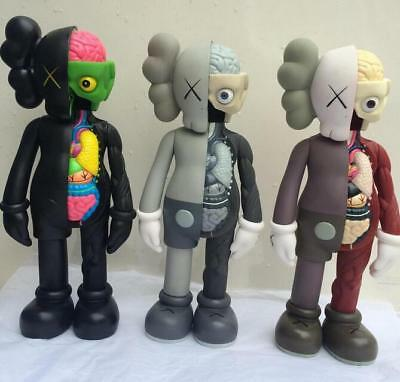 KAWS COMPANION BLACK Brown Grey Flayed Open Edition 2017 Figure New Without Box