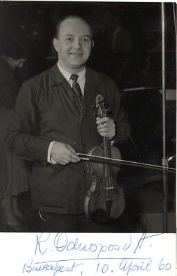 Violinists - RICCARDO ODNOPOSOFF orig. signed Photo 1960