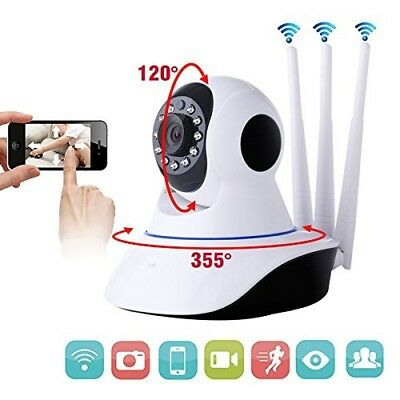 Telecamera IP Camera  Smart Camera HD 1080p Wireless LED IR LAN wifi motorizzata