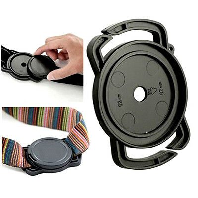 Anti Dropping Lens Cap Holder Buckle Keeper for Nikon 52mm  67mm Canon Black POP