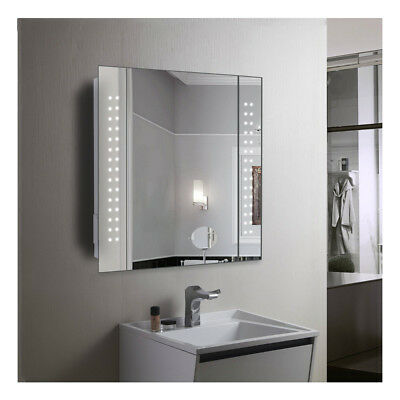 60 X Led Illuminated Bathroom Mirror Cabinet/shaver/demister/sensor/-Galact Uk