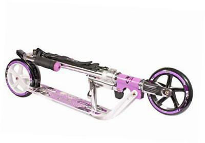 hudora 14746 adult kick scooter foldable gift for father with 180 mm big wheels