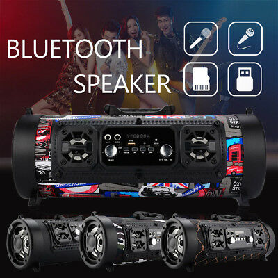 Wireless Bluetooth Speaker Stereo Outdoor USB/ AUX/ TF Card Home Theater Music