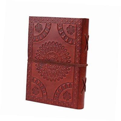 leather journal travel pocket diary embossed buddha design planner with