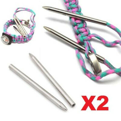 X2 550 Paracord Fids Lacing Stitching Weaving Needles Stainless Steel Needles ♫
