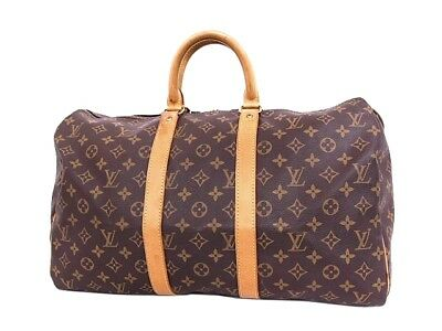 AUTHENTIC LOUIS VUITTON Keepall 45 M41428 Grade AB USED -CJ