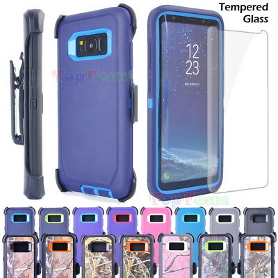 Samsung S8 Plus Note 8 Shockproof Case Cover, Tempered Glass, Clip fit Otterbox