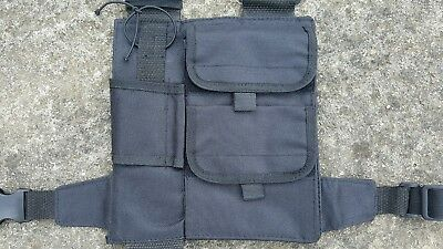 Adjustable Handheld Radio Chest Harness suitable for security/bouncer/paintball