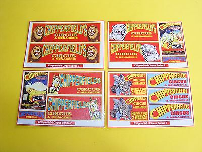 Chipperfield Circus Stickers Series 7  - Pack Of 4 Mini-Sheets