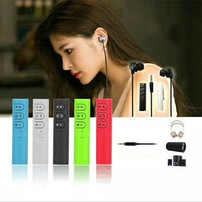 Wireless Bluetooth 3.5mm AUX Audio Music Receiver Adapter Car Kit Hands Free New
