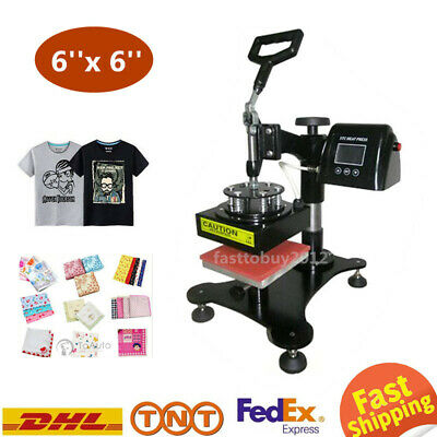 6x6'' LCD Heat Press Machine Thermal Sublimation Transfer T-shirts Logo Printing