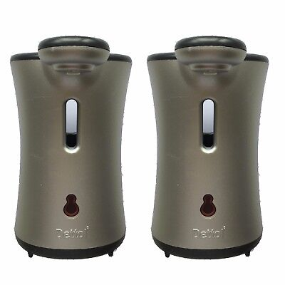2 x Dettol No Touch Hand Wash Automatic Machine System Silver FREE POSTAGE
