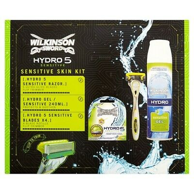 Wilkinson Sword Hydro 5 Sensitive Skin Kit Triple Pack Gift Set