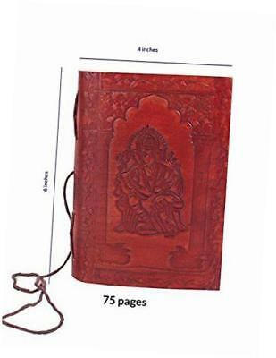 leather diary unlined journal notebook (7 x 5) ganesha designed planner