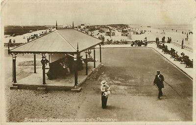 Flintshire Beach And Promenade From Cafe Prestatyn Real Photo