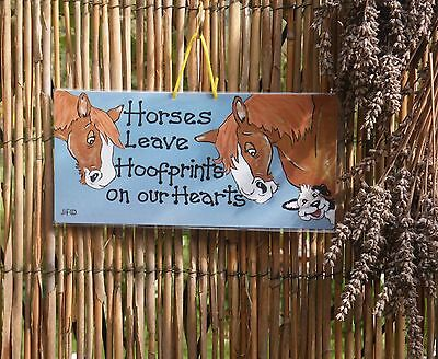 Hanging Sign Horses Leave Hoofprints on our Hearts