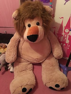 giant lion teddy great new condition
