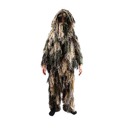 Kids Army Camouflage Ghillie Suit Sniper Costume Military Drress Up Role Play