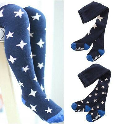 Cute Baby Kids Girls Cotton Star Tights Socks Stockings Pants Hosiery Pantyhose