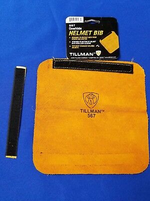 "Tillman 567 Leather Bib Welding Hood Helmet hook / loop design 8"" x 8"" USA ship"