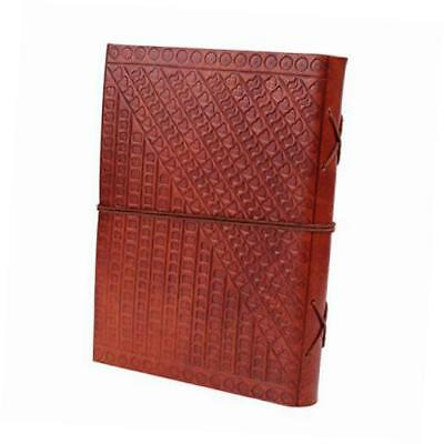 leather journal travel personal diary unlined embossed elephant design handmade