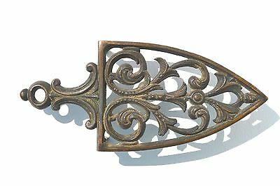 Antique Solid Bronze/brass Trivet With Fancy Scrolls Design
