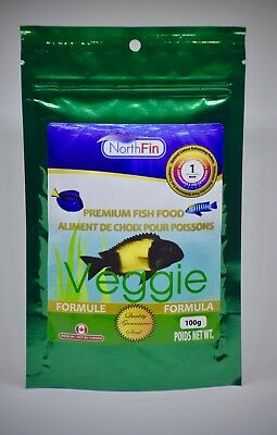NORTHFIN VEGGIE  1 mm 100g Mbuna Tropheus Algae Scraping Premium Fish Food