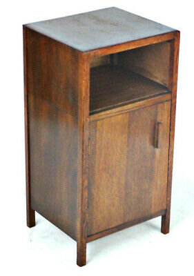 Vintage English Oak Bedside Cabinet - FREE Shipping [PL3955]