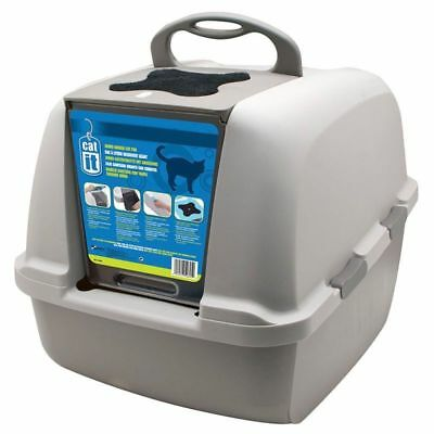 Jumbo Cat Litter Box Tray Hooded Covered Toilet Big Large with Carbon Filter XXL