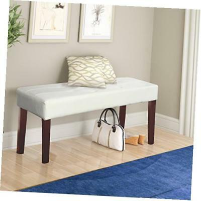 lmy-210-o fresno 12 panel bench in white leatherette